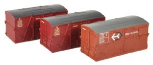 Bachmann 36-004A BD (Conflat) Large Container, Bauxite and Crimson (x3)